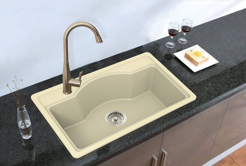 Quartz kitchen sinks anchor sleeve